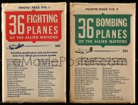 8s053 36 MILITARY PLANES OF THE ALLIED NATIONS group of 2 5x8 photo print sets 1940s with 72 photos!