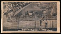 8s063 AMERICAN FENCES 4x7 manual 1900s from the American Steel & Wire Company of New York!
