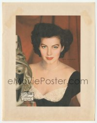 8s050 AVA GARDNER 7x9 picture frame insert 1940s the frame was guaranteed not to tarnish!