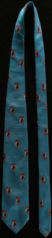 8s012 DICK TRACY neck tie 1990 cool design with many tiny detective logos, impress your friends!