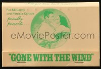 8s040 GONE WITH THE WIND matchbook R1980 special benefit showing at the Orpheum in Memphis!
