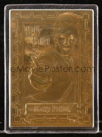8s023 HARRY POTTER limited edition trading card 2000s made with 22k gold foil in hard plastic case!