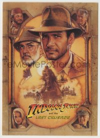 8s057 INDIANA JONES & THE LAST CRUSADE 5x7 screening invitation 1989 Struzan art of Ford & Connery!