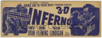 8s031 INFERNO 4x11 drug store counter display 1953 Robert Ryan, William Lundigan, Rhonda Fleming!