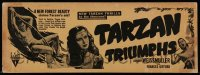 8s068 TARZAN TRIUMPHS 4x11 title strip 1943 Johnny Weismuller & sexy Frances Gifford as Zandra!