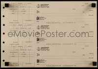 8s006 TIME TO KILL uncut sheet of prop checks 1996 used by Matthew McConaughey's character in movie!