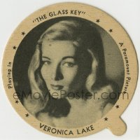 8s078 VERONICA LAKE 3x3 Dixie ice cream lid 1942 sexy portrait advertising The Glass Key!