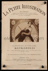 8s026 METROPOLIS French souvenir program book 1928 Fritz Lang, cool images & text about the movie!