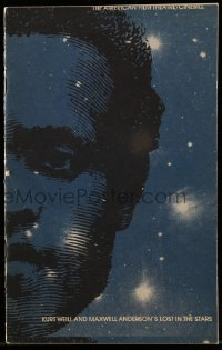 8s028 LOST IN THE STARS program 1974 Kurt Weill & Maxwell Anderson's unforgettable love story!