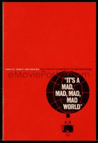 8s020 IT'S A MAD, MAD, MAD, MAD WORLD promo brochure 1964 Jack Davis & other art, rare!