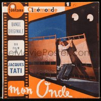 8s025 MON ONCLE 45 RPM soundtrack French record 1958 Jacques Tati as My Uncle, Mr. Hulot!