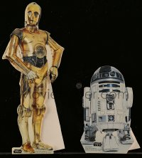 8s036 STAR WARS group of 2 mini French standees R1997 cool die-cut R2-D2 and C-3PO!