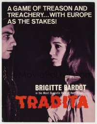 8s034 NIGHT OF LOVE TV trade ad R1960s sexy Brigitte Bardot, a game of treason & treachery!
