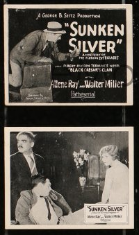 8s075 SUNKEN SILVER set of 12 3x4 mini photos 1925 Allene Ray, Walter Miller, includes a title card!