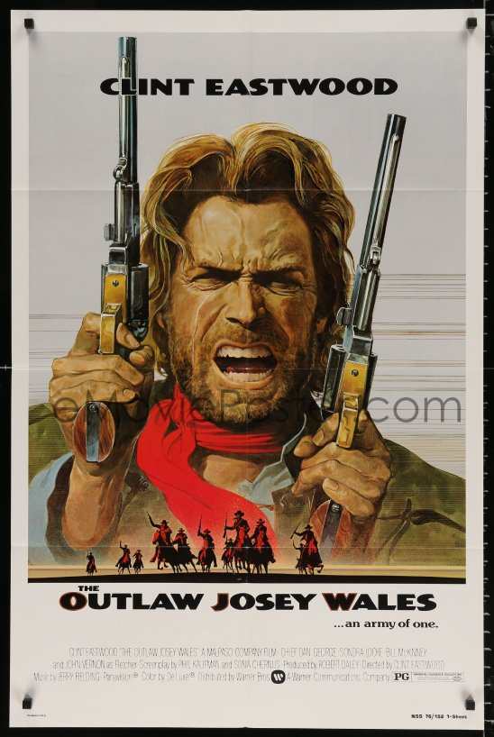 eMoviePoster com: 8t661 OUTLAW JOSEY WALES studio style 1sh