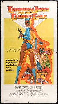 8x005 CLEOPATRA JONES & THE CASINO OF GOLD linen 3sh 1975 great Tanenbaum art of sexy Tamara Dobson!