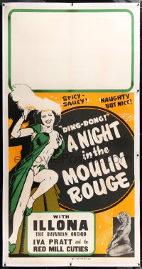 8x010 NIGHT IN THE MOULIN ROUGE linen 3sh 1951 Ilona the Bavarian Orchid is naughty but nice, rare!