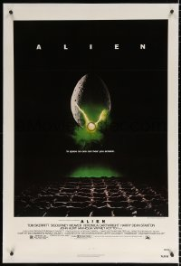 8x030 ALIEN linen NSS style 1sh 1979 Ridley Scott outer space sci-fi monster classic, cool egg image!