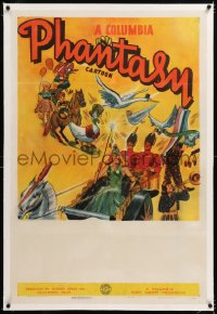 8x063 COLUMBIA PHANTASY CARTOON linen 1sh 1939 Columbia, art of Mother Goose & other characters!