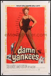 8x070 DAMN YANKEES linen 1sh 1958 sexy full-length barely-dressed Gwen Verdon, baseball & Broadway!