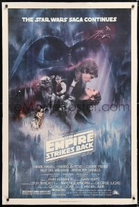 8x082 EMPIRE STRIKES BACK linen NSS style 1sh 1980 classic Gone With The Wind style art by Roger Kastel!