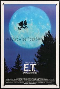8x079 E.T. THE EXTRA TERRESTRIAL linen 1sh 1982 Spielberg classic, iconic bike over moon!