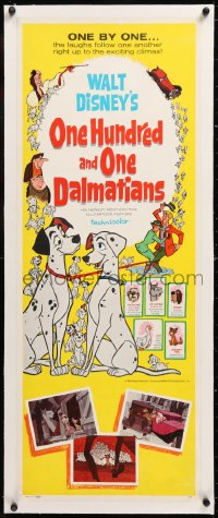 8x016 ONE HUNDRED & ONE DALMATIANS linen insert 1961 most classic Walt Disney canine family cartoon!