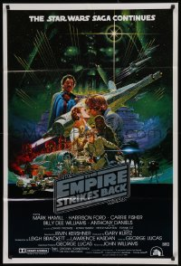 8z149 EMPIRE STRIKES BACK Aust 1sh 1980 George Lucas sci-fi classic, cool Noriyoshi Ohrai art!