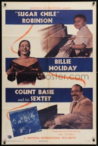 8z171 SUGAR CHILE ROBINSON, BILLIE HOLIDAY, COUNT BASIE & HIS SEXTET 1sh 1951 jazz, ultra rare!