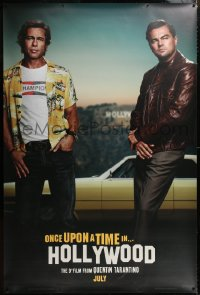 9a017 ONCE UPON A TIME IN HOLLYWOOD 48x72 wilding poster 2019 Quentin Tarantino, DiCaprio & Pitt!