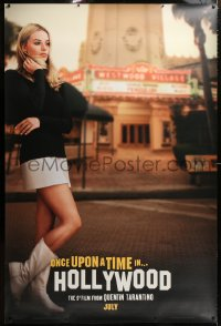 9a016 ONCE UPON A TIME IN HOLLYWOOD 48x72 wilding poster 2019 Margot Robbie as Sharon Tate!