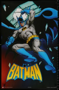 9c175 BATMAN 22x34 Canadian commercial poster 1989 full-length art of The Caped Crusader, skylight!