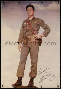 9c184 ELVIS PRESLEY 21x31 commercial poster 1960s great full-length image in Army uniform!