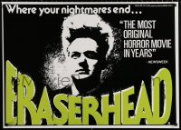 9c185 ERASERHEAD 25x35 English commercial poster 1980s David Lynch, Nance, surreal fantasy horror!