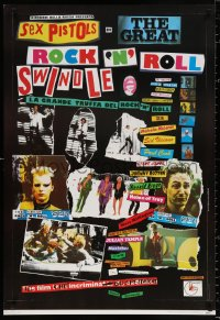 9c187 GREAT ROCK 'N' ROLL SWINDLE 27x40 Italian commercial poster 1980 Sex Pistols' Sid Vicious!