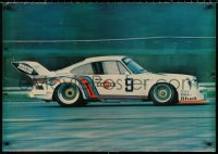 9c194 PORSCHE 24x34 English commercial poster 1976 great image of race car on track!