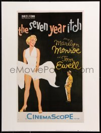 9c197 SEVEN YEAR ITCH 19x25 commercial poster 1978 great image of sexy Marilyn Monroe & Tom Ewell!
