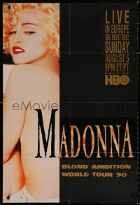 9c286 MADONNA: BLOND AMBITION WORLD TOUR LIVE 27x40 special poster 1990 sexy image w/ back turned!