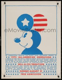 9c239 1975 ALL-AMERICAN ANIMACANA 17x22 special poster 1975 Carm Goode art of Mickey Mouse!