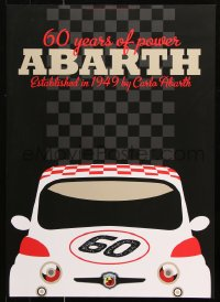 9c241 ABARTH 20x28 special poster 2009 close-up artwork of the Fiat by Lasse Bauer!