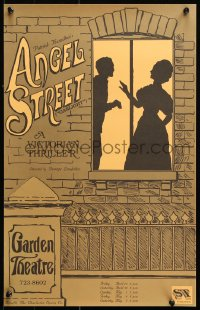 9c321 ANGEL STREET 14x22 stage poster 1980s Patrick Hamilton, George Loukides, great art!