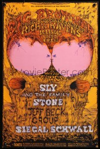 9c116 BIG BROTHER & THE HOLDING COMPANY/RICHIE HAVENS/ILLINOIS SPEED PRESS 14x21 music poster 1968
