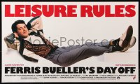 9c266 FERRIS BUELLER'S DAY OFF 14x24 special poster 1986 Broderick in John Hughes teen classic!