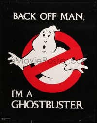 9c268 GHOSTBUSTERS 22x28 special poster 1984 Ivan Reitman, back off man, I'm a Ghostbuster!