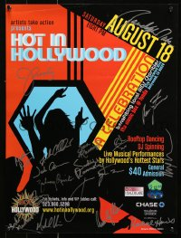 9c271 HOT IN HOLLYWOOD signed 18x24 special poster 2007 by Zachary Quinto, Ferrara, sixteen others!