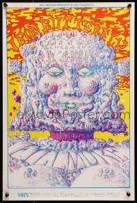 9c124 IRON BUTTERFLY/JAMES COTTON BLUES BAND/A.B. SKHY 14x21 music poster 1969 Lee Conklin art!