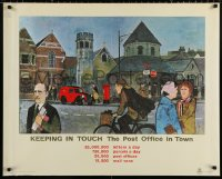 9c277 KEEPING IN TOUCH 29x36 English special poster 1960s GPO, General Post Office, in town!