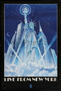 9c281 LIVE FROM NEW YORK 24x36 special poster 1986 dedication of the Statue of Liberty in 1886!