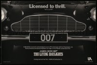 9c282 LIVING DAYLIGHTS 12x18 special poster 1986 great image of classic Aston Martin car grill!