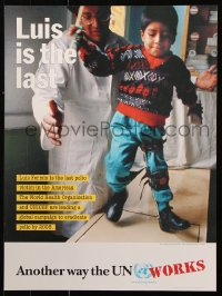 9c284 LUIS IS THE LAST 18x24 special poster 2000 he is the last polio victim in the Americas!